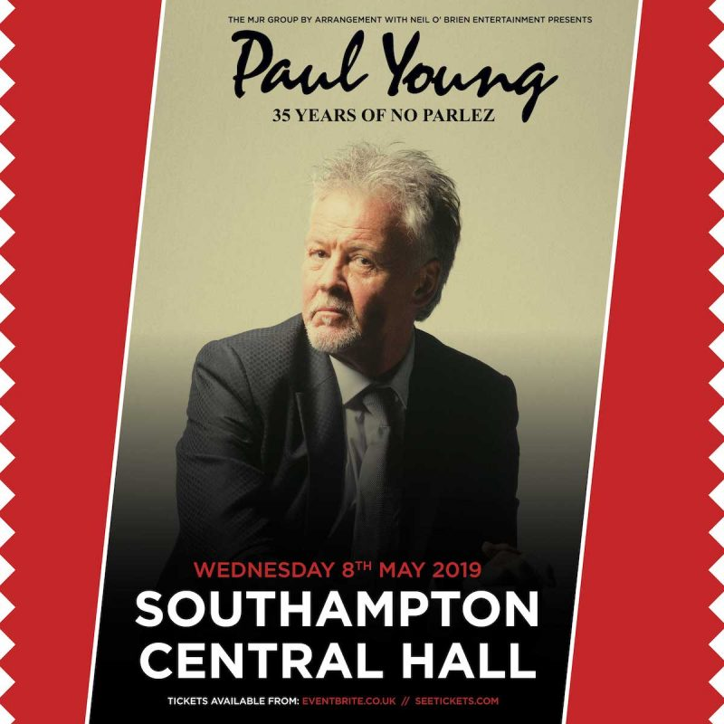 Paul Young – 35 years of No Parlez Tour 2018