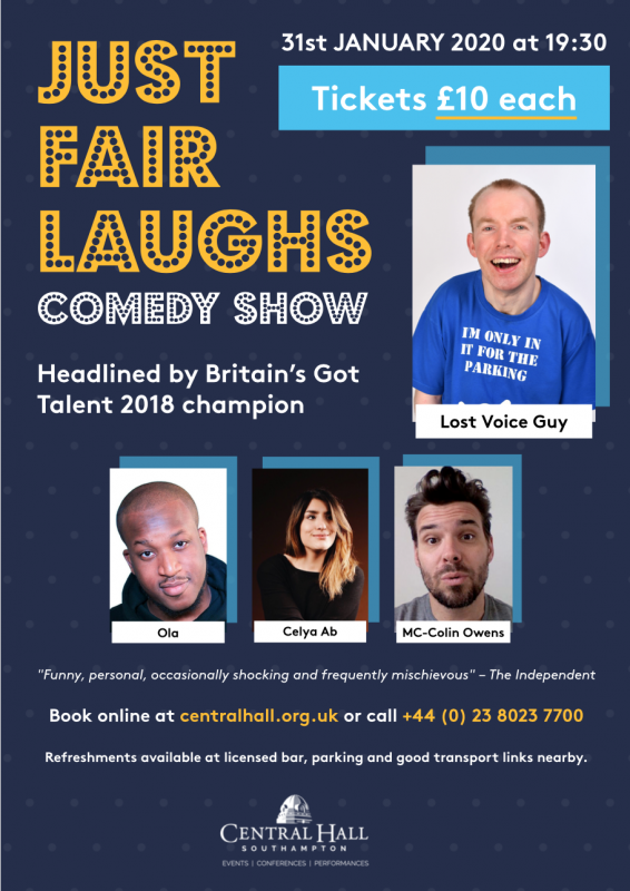 Just Fair Laughs – Lost Voice Guy