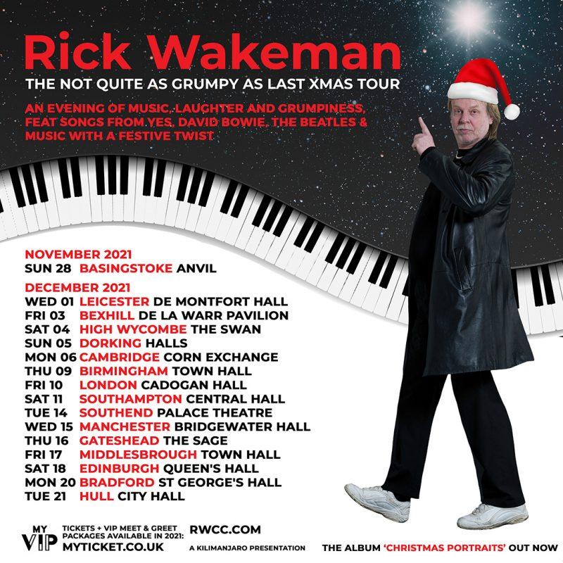 Rick Wakeman – The Not Quite as Grumpy as Last Christmas Show *NEW DATE*